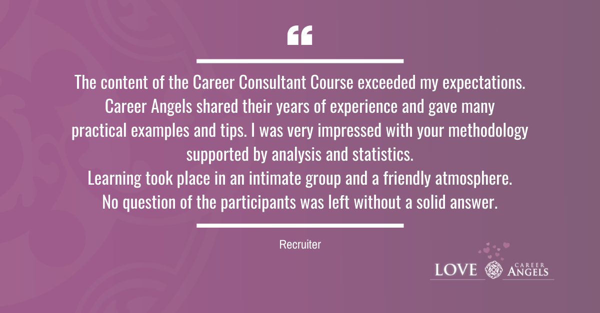 Love Letters to Career Angels from Recruiter about the Career Consultation Course