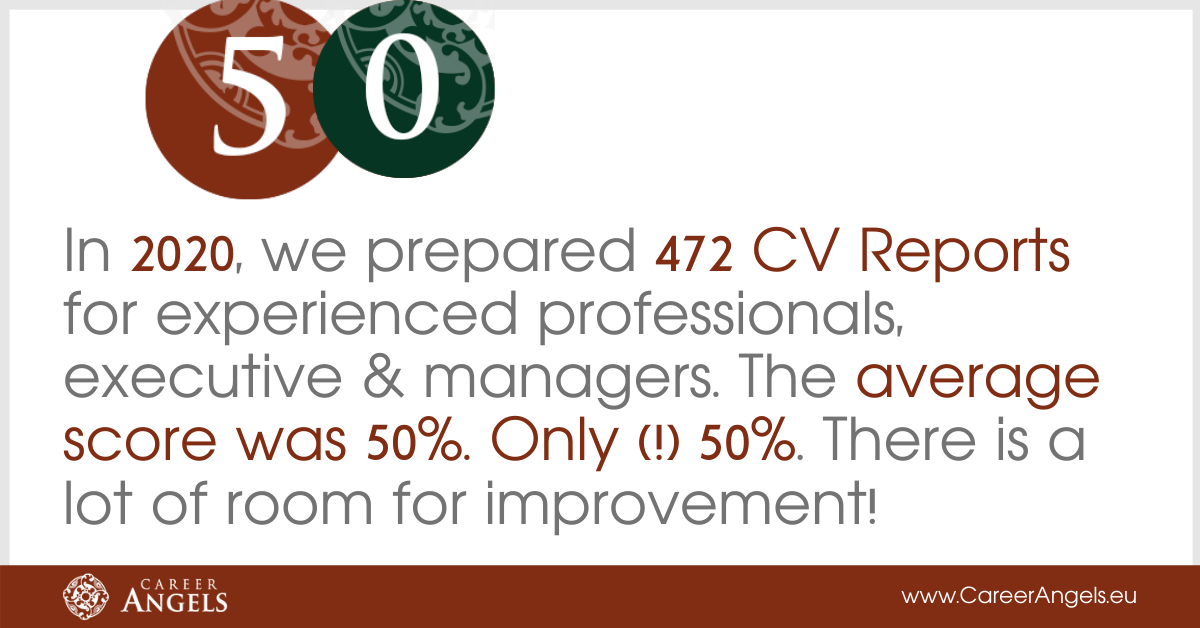 CV Reports for experienced managers and executives