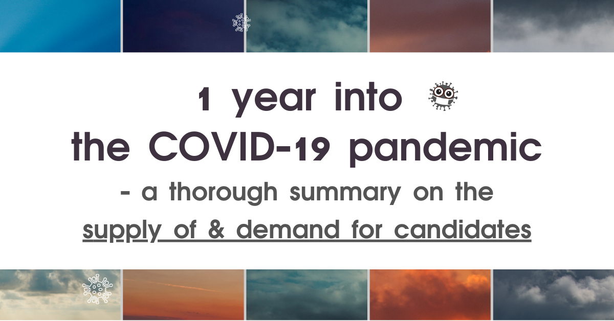 1 year into the COVID-19 pandemic – a summary on the job market