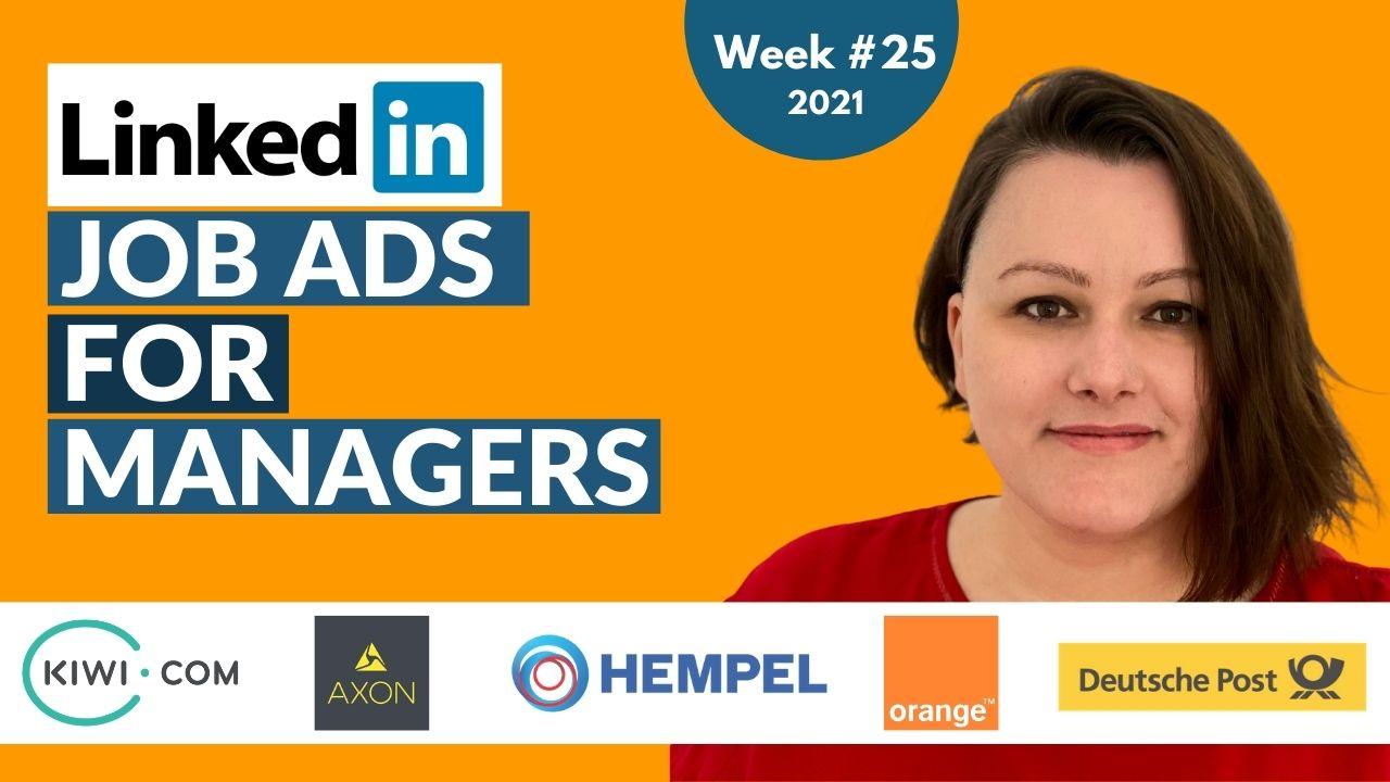 Hidden Job Market Highlights - top job offers from Linkedin [Week 25, 2021]