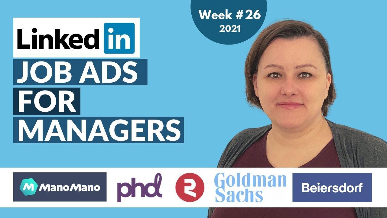 Hidden Job Market Highlights - top job offers from Linkedin [Week 26, 2021]
