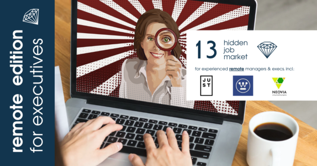 Remote job ads for experienced managers & executives across Europe from Hidden Job Market by Career Angels