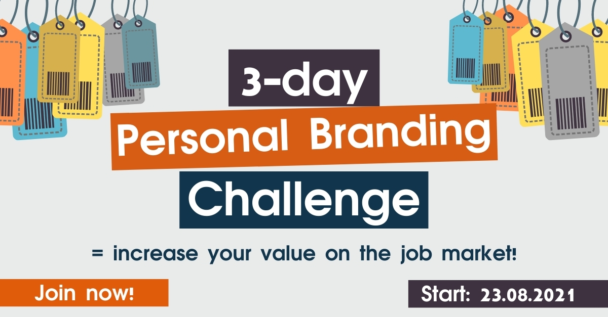 Join our 3-day Personal Branding Challenge! (it's free!)