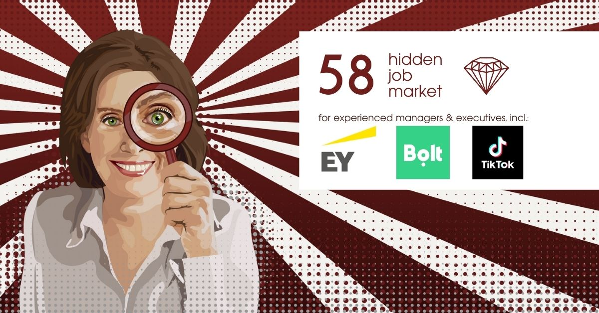 ob ads for experienced managers & executives across Europe from Hidden Job Market by Career Angels