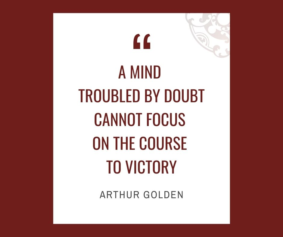 """Inspirational quotes by Career Angels: """"A mind troubled by doubt cannot focus on the course to victory"""" Arthur Golden"""